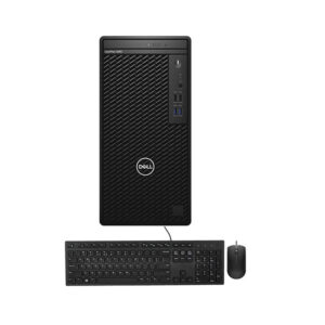 Dell OptiPlex 3080 10th Gen Intel Core i3 10100 (3.60GHz-4.30GHz, Intel B460 Chipset, 4GB DDR4 2666MHz, 1TB HDD, DVD RW) 260W PSU, USB Keyboard & Mouse, Free DOS, Black Tower Brand PC