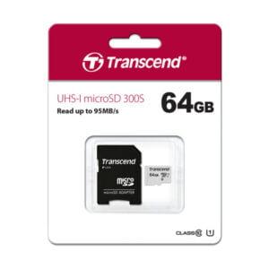 TRANSCEND 64GB 300S-A Micro SD Card